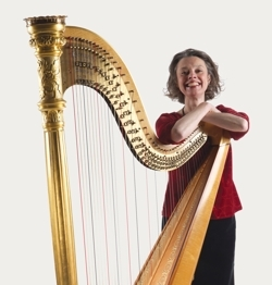 Ruth Faber harpist - photo courtesy of Allianz